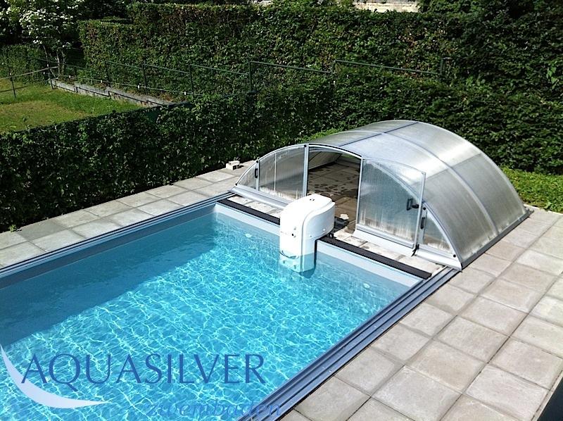 Rechthoek zwembad rvs trap for Inbouw zwembad rechthoek