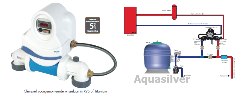 Verwarming zwembad electrische warmtepomp warmtewisselaars for Warmtewisselaar zwembad