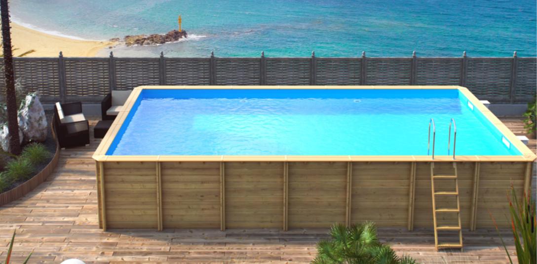 Zwembad hout for Opzet zwembad rechthoek