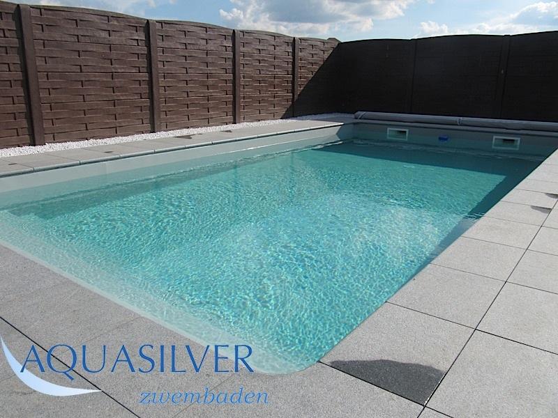Zwembaden met brede inloop trap complete sets - Zwembad kleur liner ...