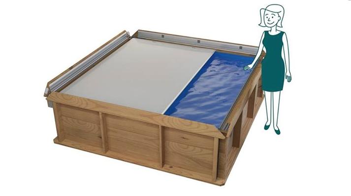 Kinder zwembad hout for Houten vijverbak