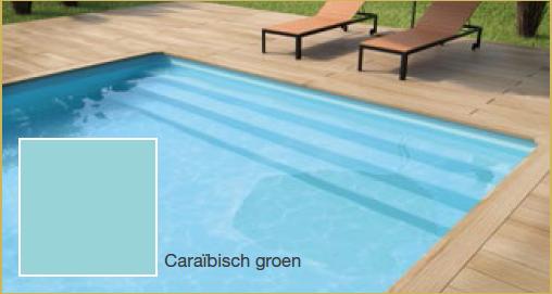 Delux rechthoek 950 x 400 x 150 lamellen afdekking rechthoek94 - Zwembad kleur liner ...