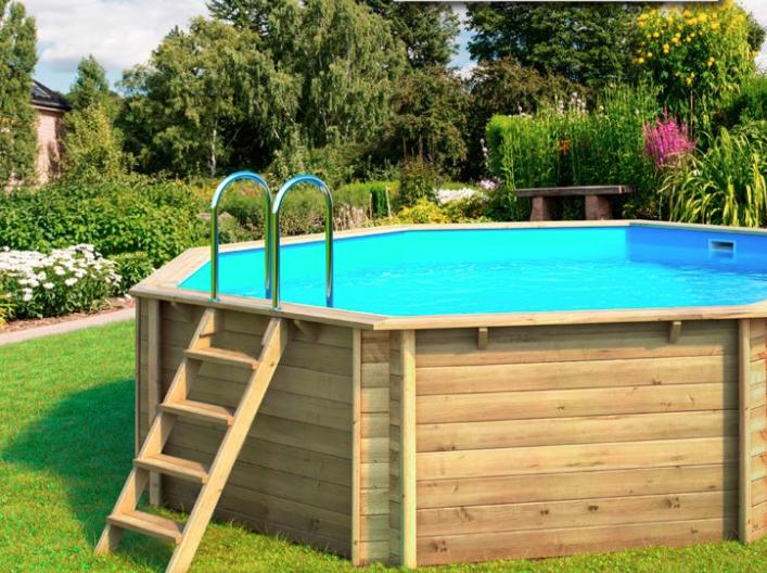 Zwembaden ovaal rond rechthoek voordelige sets met randstenen for Opbouw zwembaden
