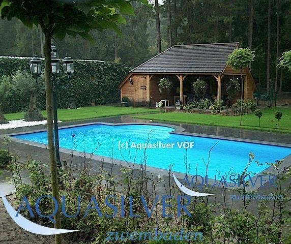 Delux rechthoek zwembad met romeinse inlooptrap 700 x350 x for Opzet zwembad rechthoek