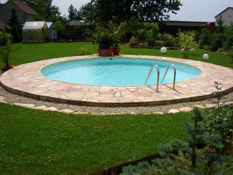 Zandkleur liner folie voor rond zwembad 500 x 135 cm