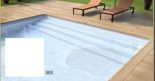Rechhoek zwembad inlooptrap 400 x 350 x 150 - Zwembad kleur liner ...