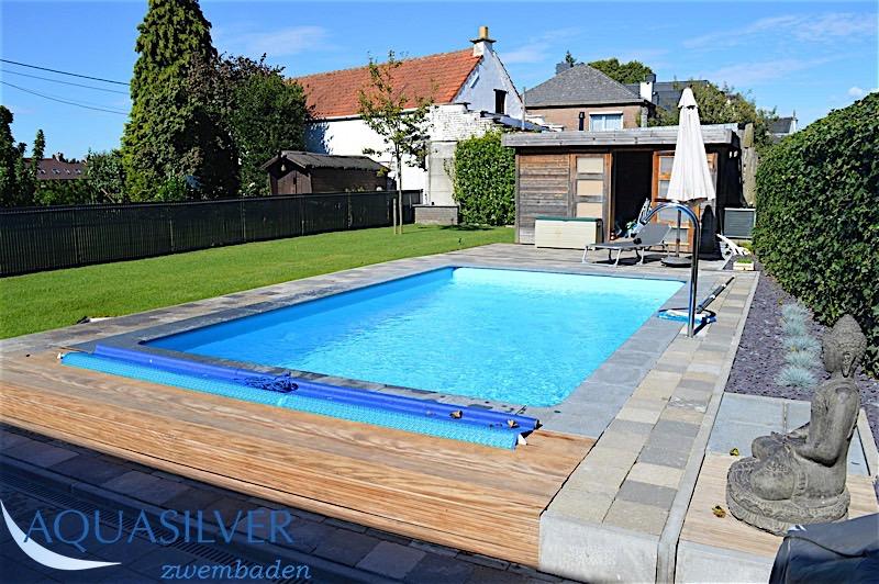 Rechthoek zwembad 450 x 300 x120cm for Inbouw zwembad compleet