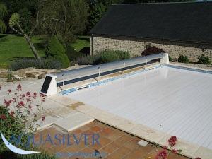 Rolafdekking zwembad for Opbouw zwembaden